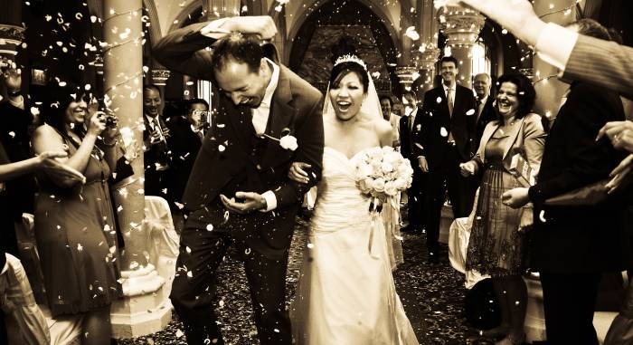 Asian Wedding Couple reception